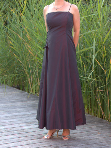langes Abendkleid, Ballkleid bordeaux Gr 36